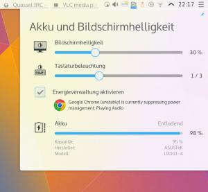 Google Chrome suppressing power management