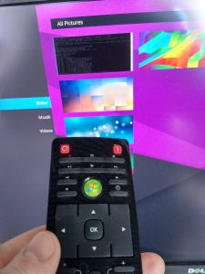 Browsing Plasma Media Center using the input device it was designed for