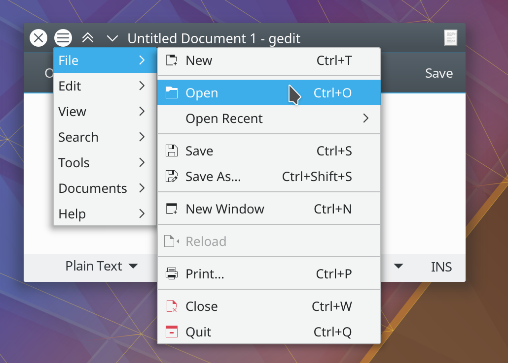 GTK Global Menu – Kai Uwe's Blog