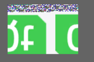 The Qt logo severely distorted (upside down, horizontally shifted, garbage pixels at the top)